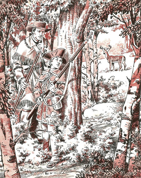 Ilustraciones de John Severin para el libro Adventures of Lewis and Clarck (Random House, 1968),...