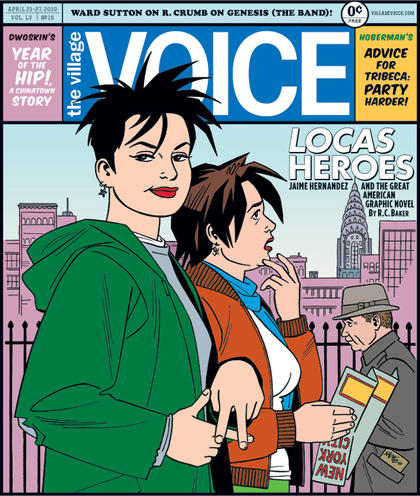 Portada de Jaime Hernandez para The Village Voice. Una portada, generalmente, no debera de ser...