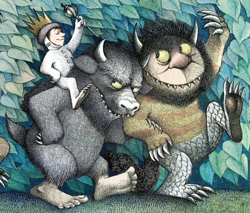 Ilustración de Donde viven los monstruos