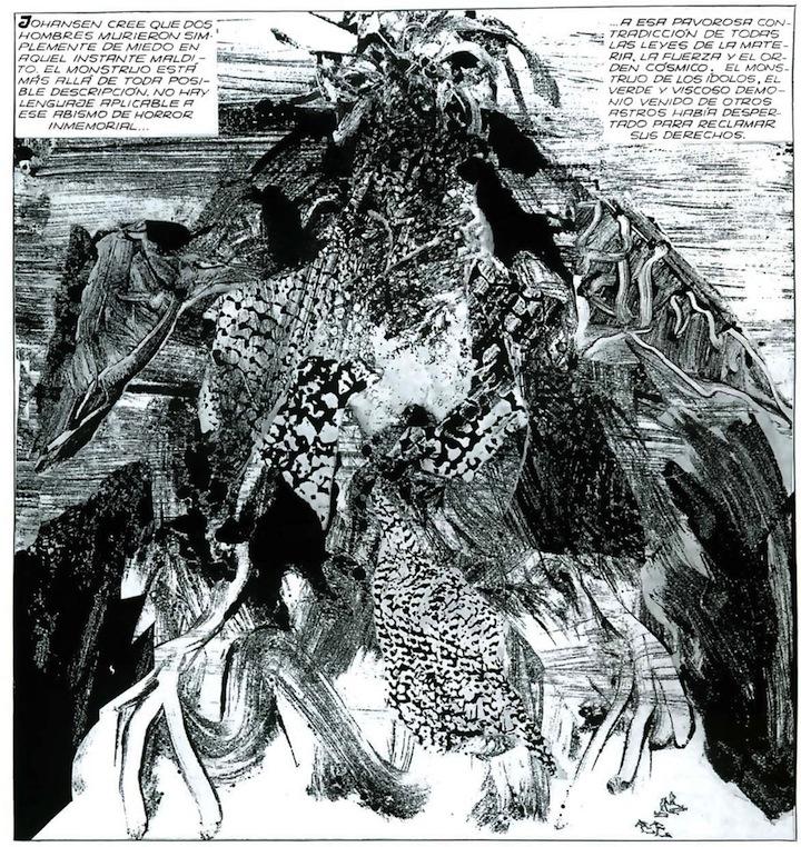 Alberto Breccia - Los Mitos de Cthulhu -La llamada de Cthulhu (Il Mago, diciembre de 1974)