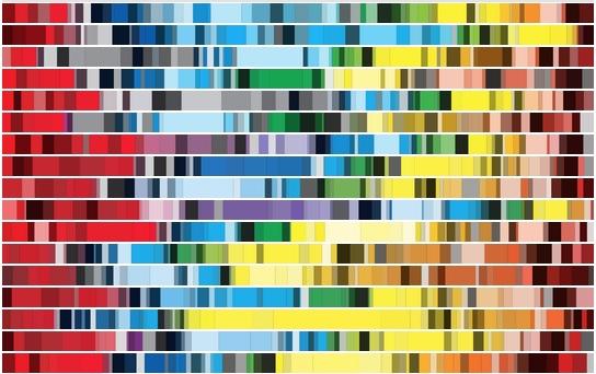 vengadores esquema de color