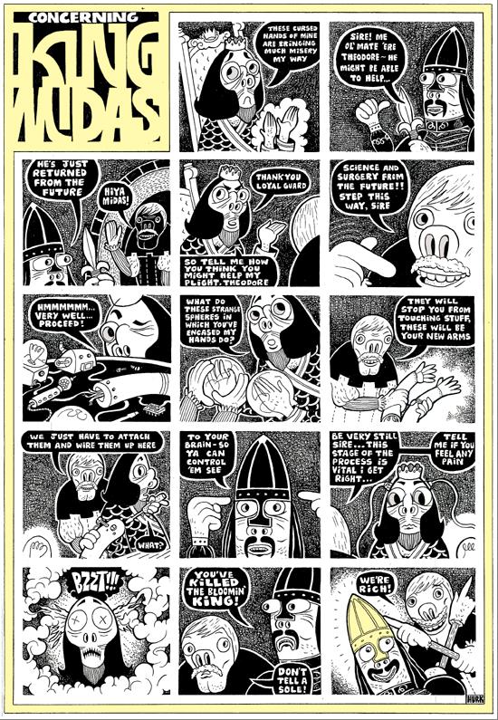 Historieta de Lord Hurk rica en detalles.