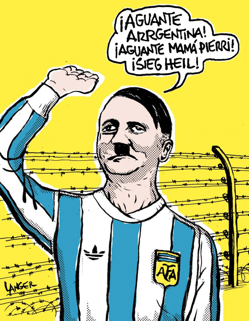 Fig 12 - Langer, Argentina Mundial Sieg Heil (revista Barcelona, julio de 2010)